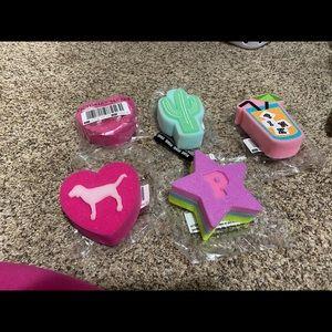 VS Pink Bath Sponges